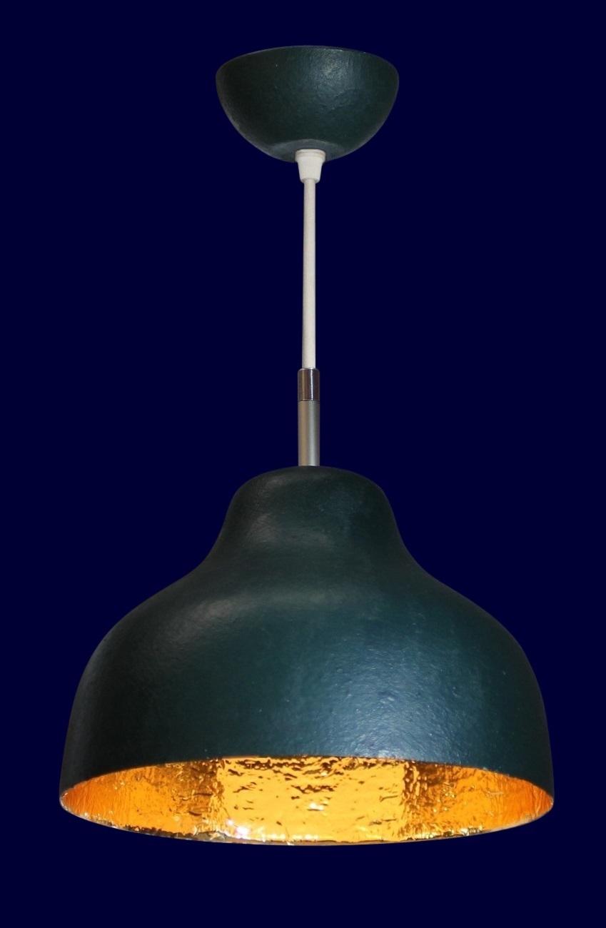 Anthroposophische Lampen anthrazit-goldglanz34